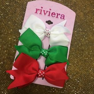 Girls Christmas Hair Clips Holiday
